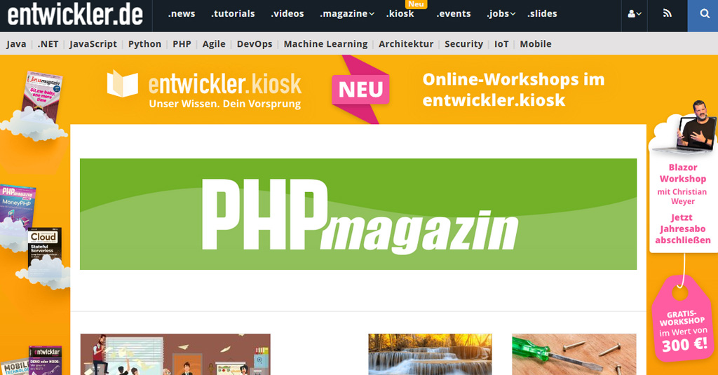 web nachrichten php magazin