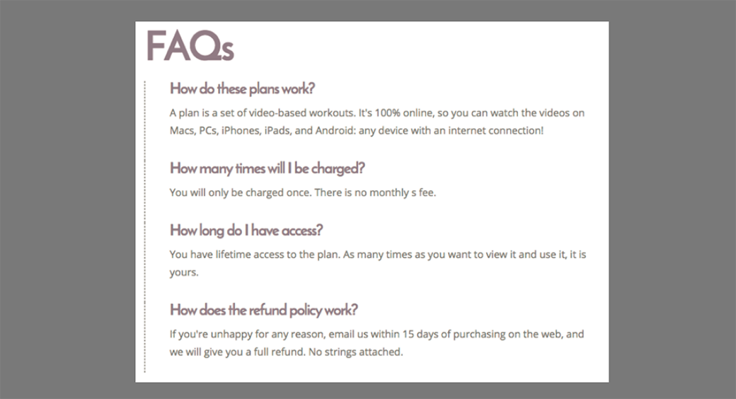 faq web page example image