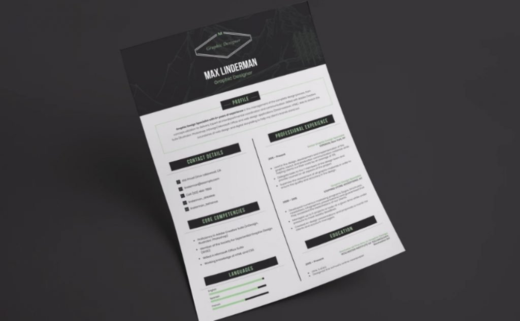 CV designs resume templates package image