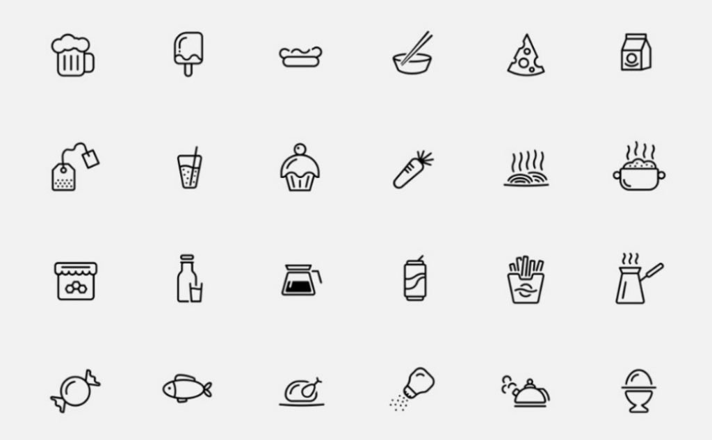 Icons Set Graphics for web design image