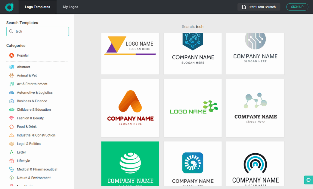 Logo design library corporate color app image
