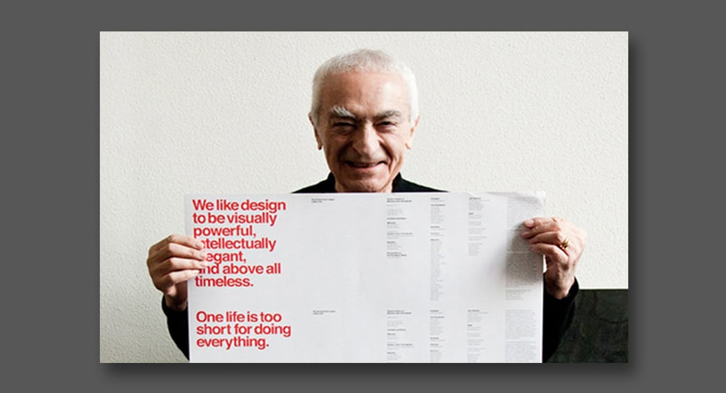 famous logo designer vignelli