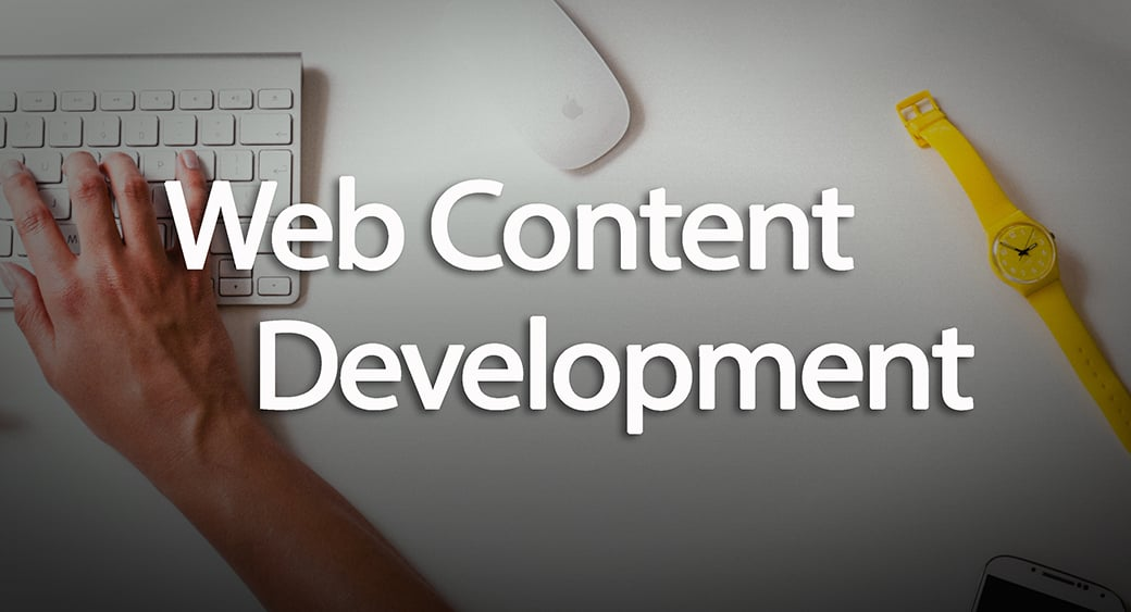 web content development main image