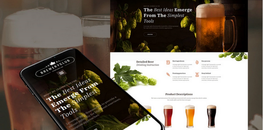 beer Website Design for Craft Beer Pubs and Breweries