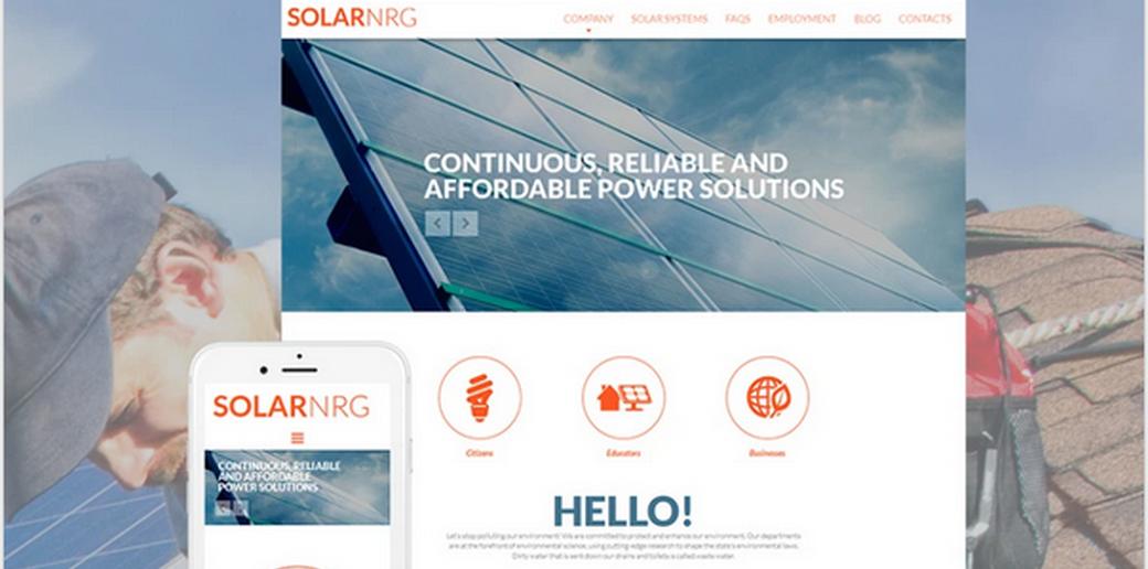 renewable energy website design image