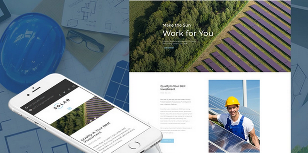 solar energy website design for large and small businesses
