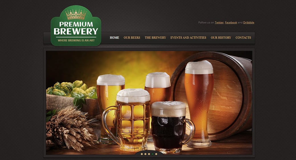 premium beer website image