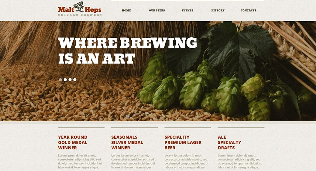 brewing web design