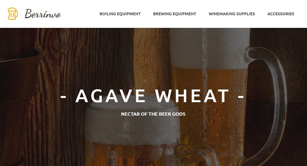 wheat beer website design