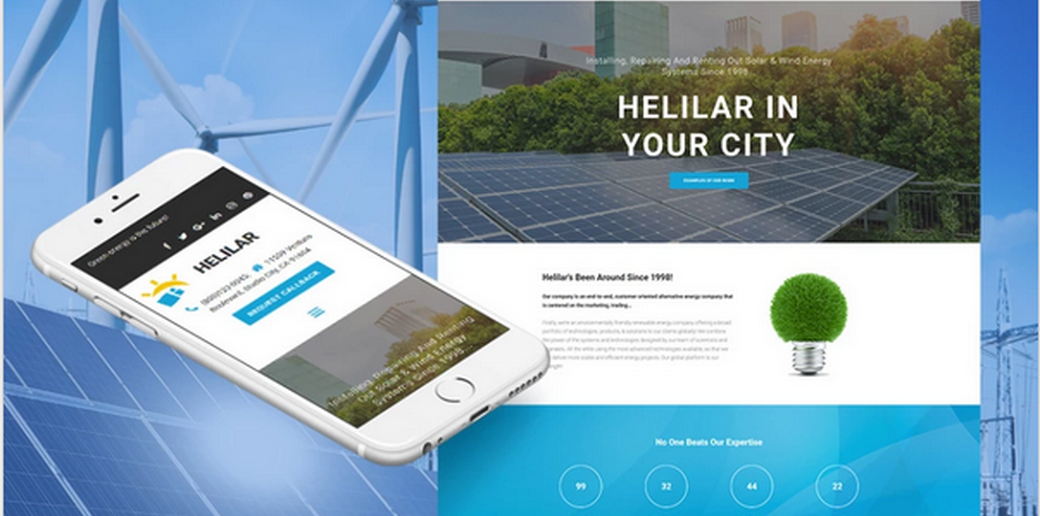 alternative energy website design
