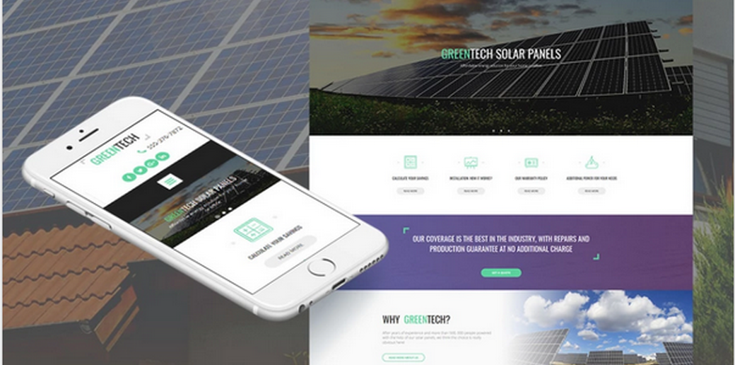 alternative energy web template