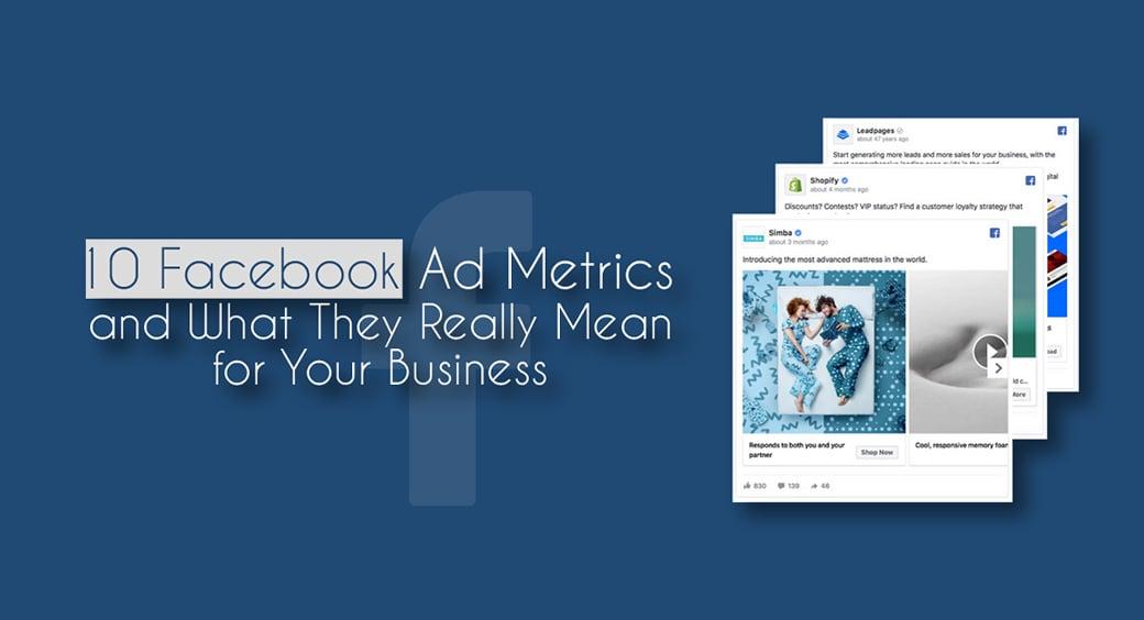 Facebook ad metrics main image