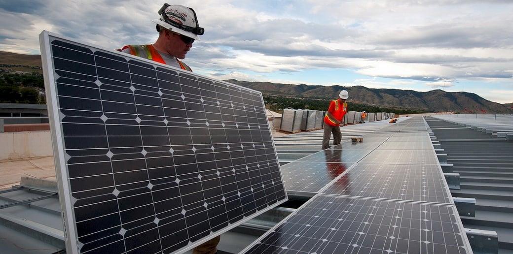 solar panels installation image