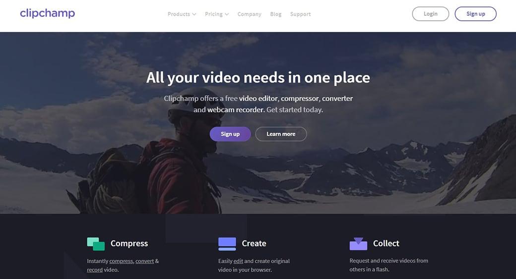 easy video cutter ClipChamp