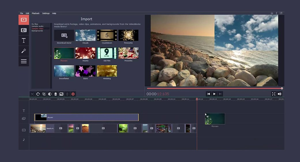 Movavi Video Editor for video cut