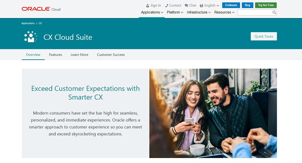 Oracle CX CRM software
