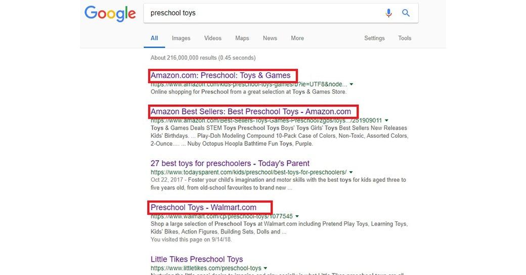 niche queries in Google