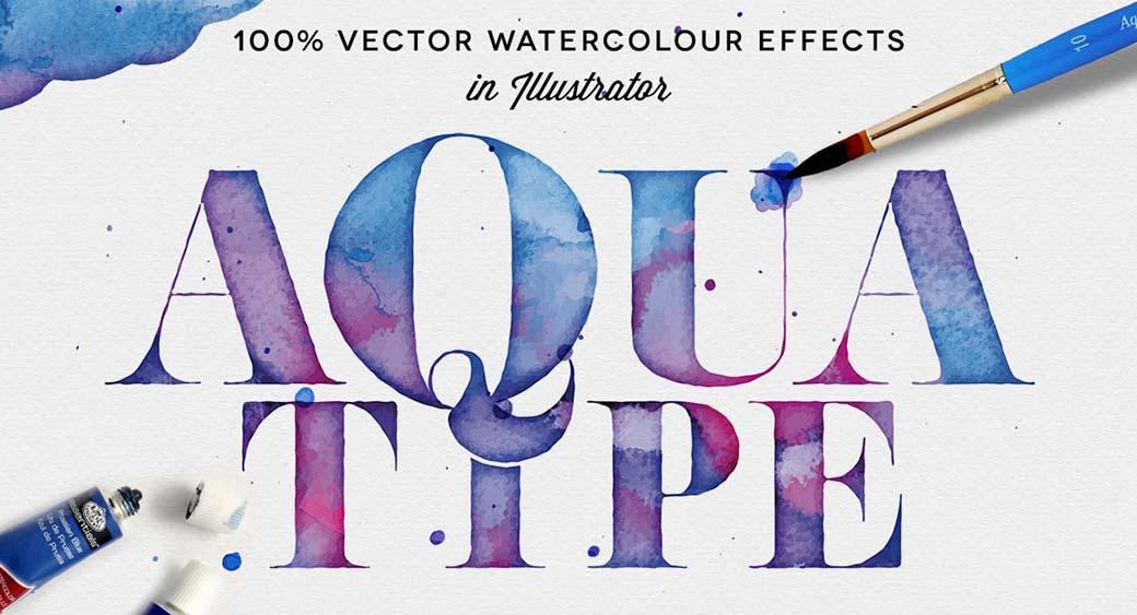 logo design trend - vatercolor nostalgia