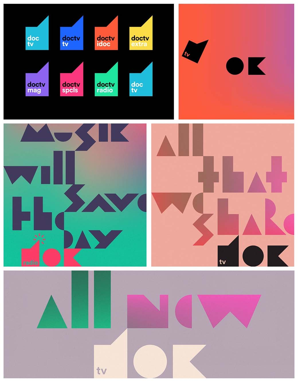 web design trend - complex colors and geometry
