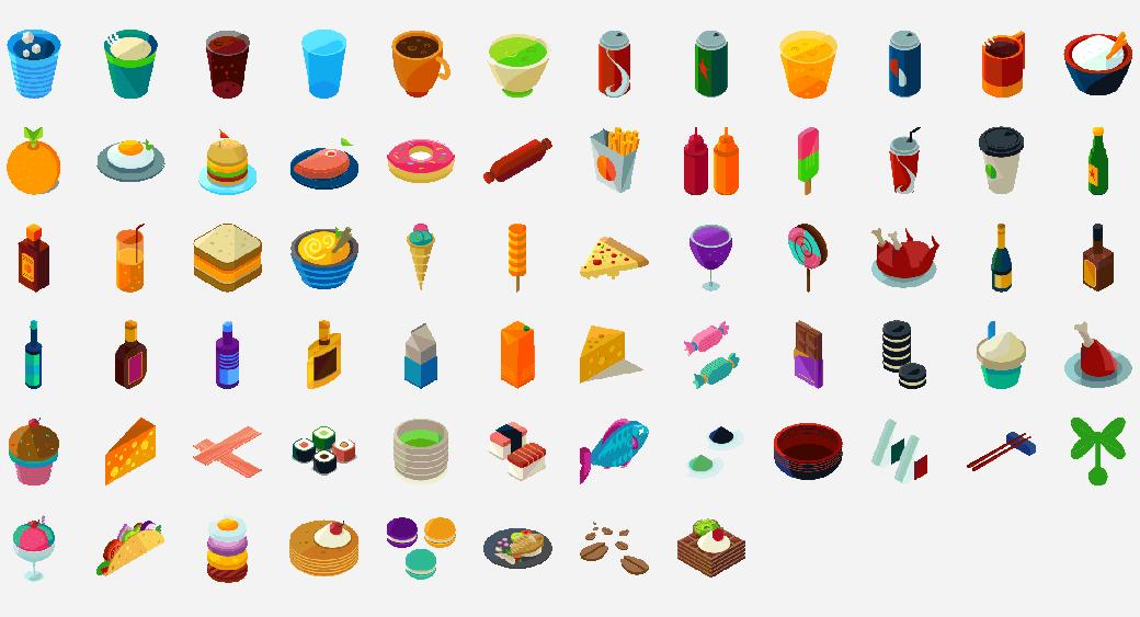 graphic design trend - isometric icon sets