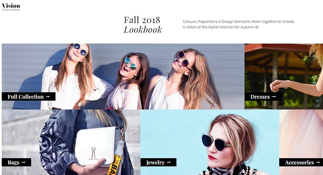 lookbook template for fashion designer