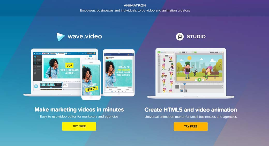 Animatron video animation online