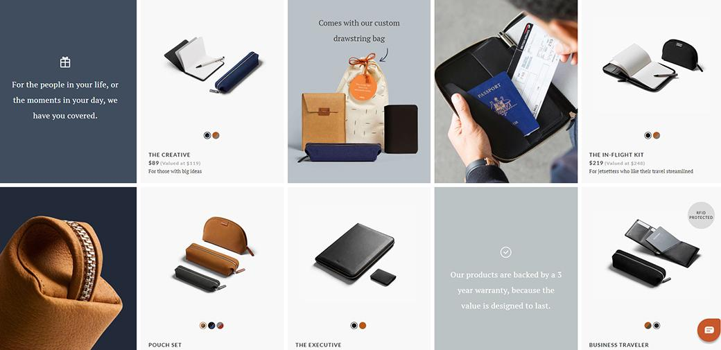 Bellroy good web design