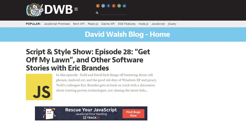 learn how to code for free with David Walsh