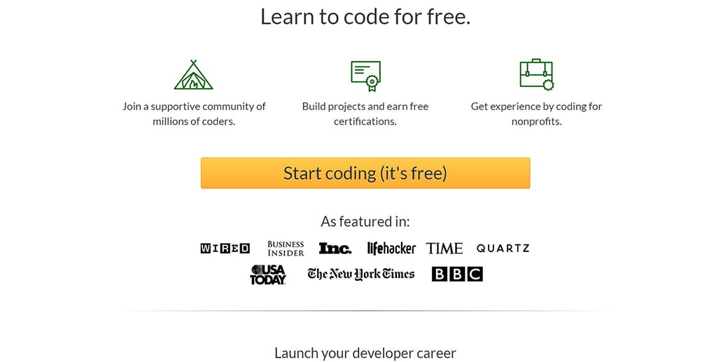 FreeCodeCamp coding for beginners