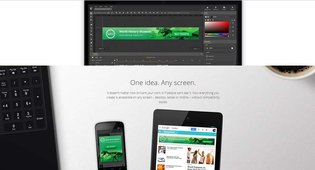Google Web Designer video animation software