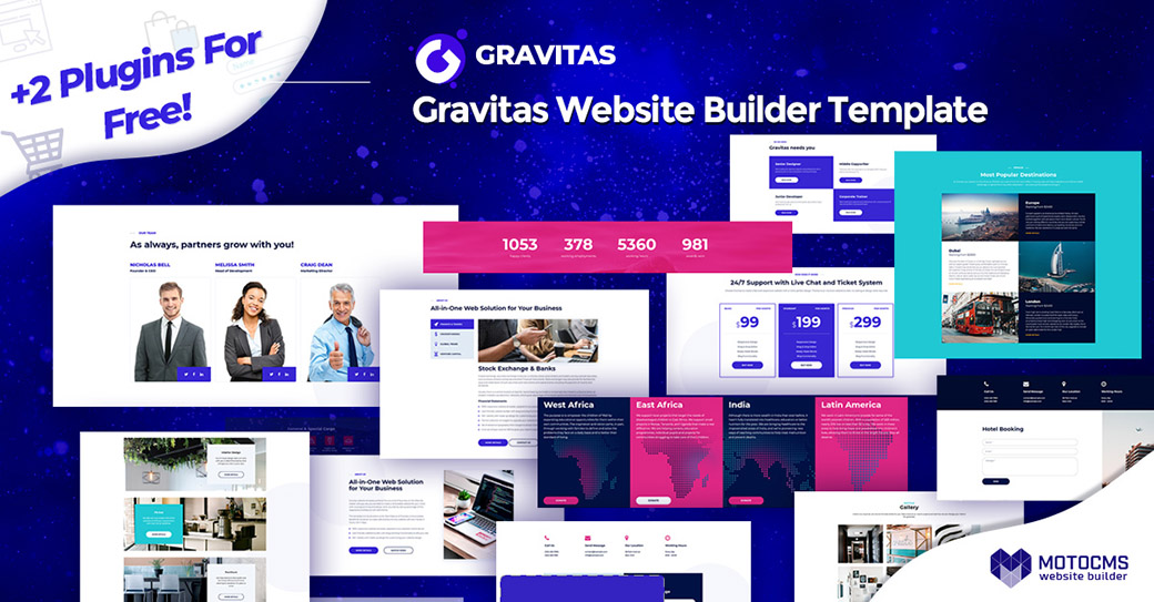 Gravitas Corporate Website Design image