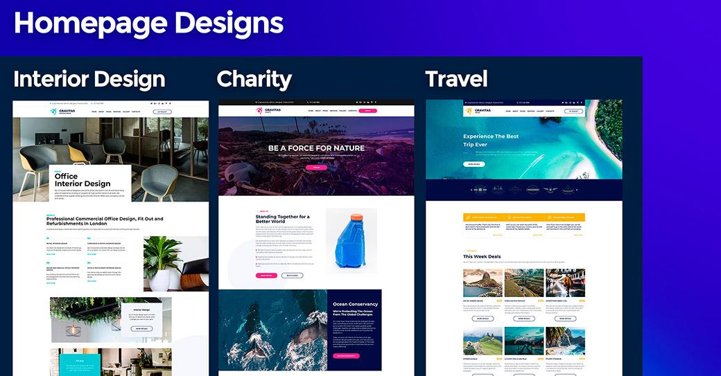 Gravitas Homepage Designs image