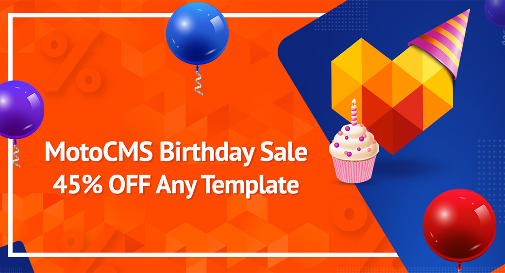 Top Website Builder MotoCMS Anniversary Sale main image