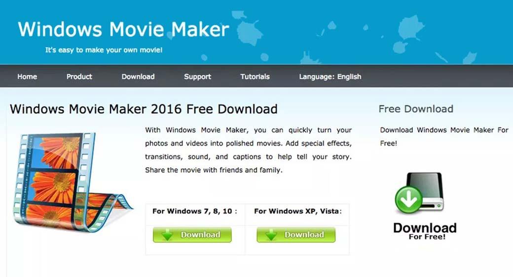 Windows Movie Maker video animation design