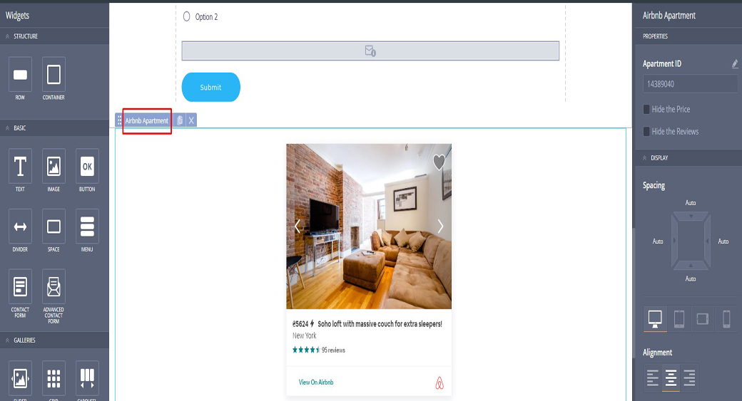Airbnb Apartment and Live Chat Option Innovative Features