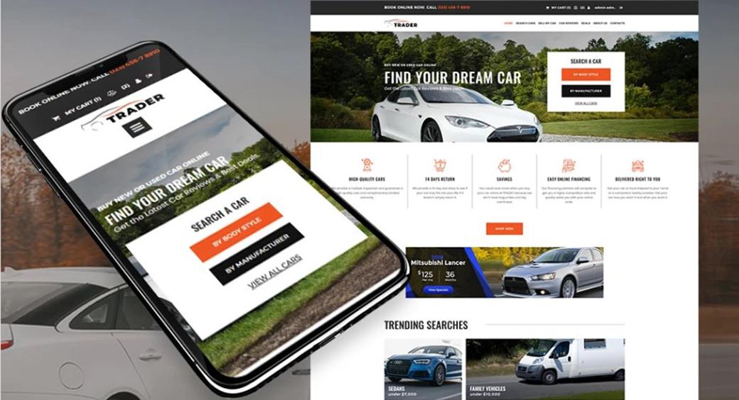 car dealer eCommerce template image