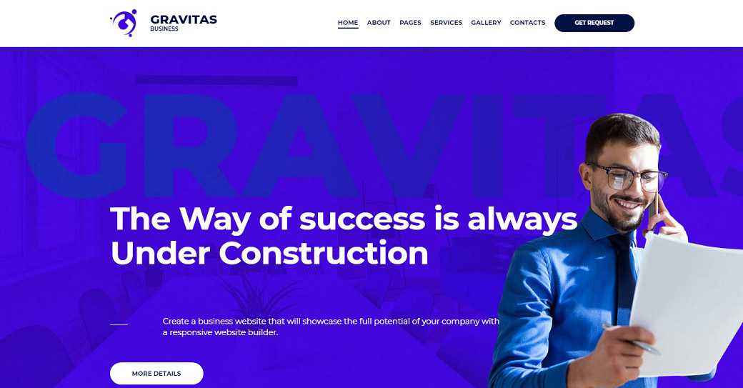 Gravitas Gravitas Corporate Website Design