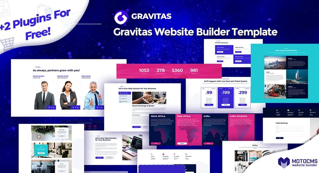 Gravitas website template