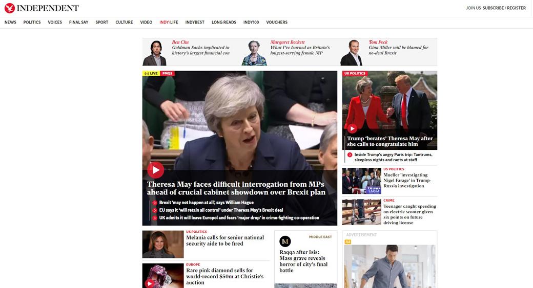 poor website design independent