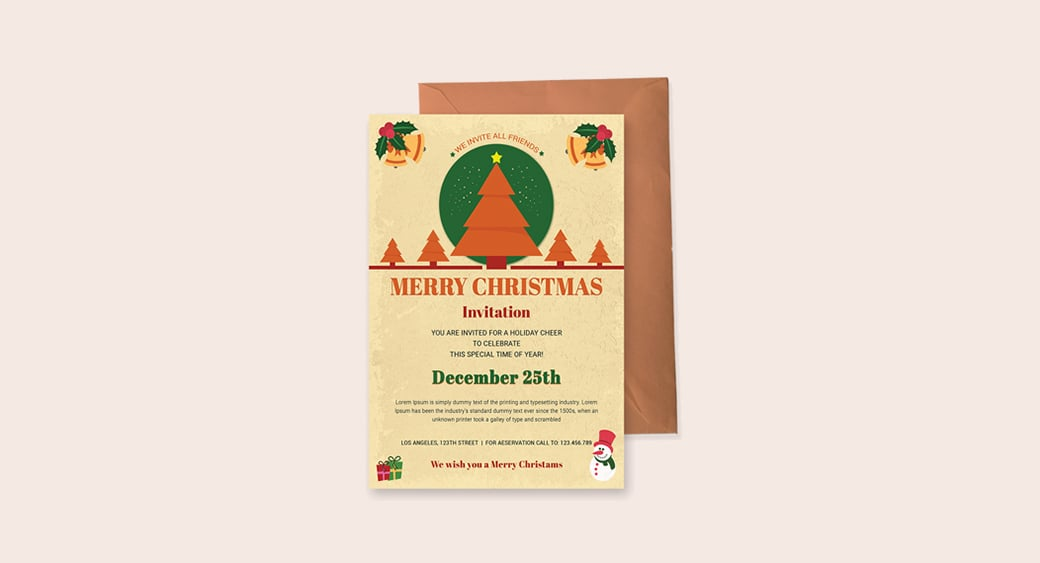 Free Christmas Holiday Invitation image