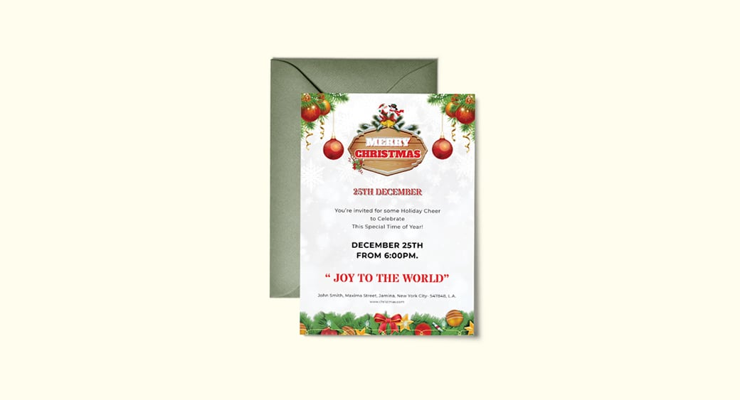 Free Christmas Invitation Flyer image