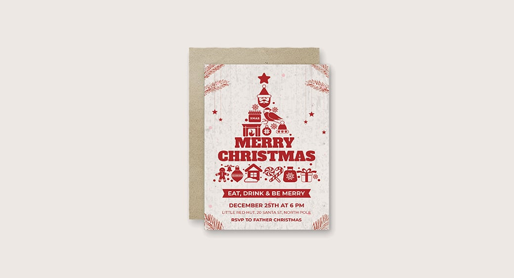Free Creative Christmas Invitation image