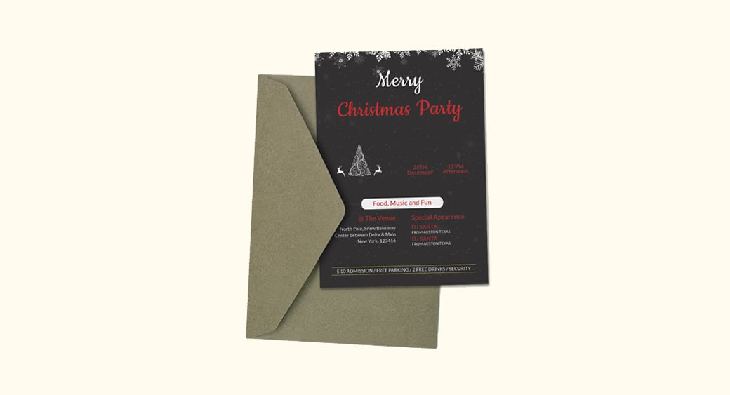 Free Creative Christmas Party Invitation image