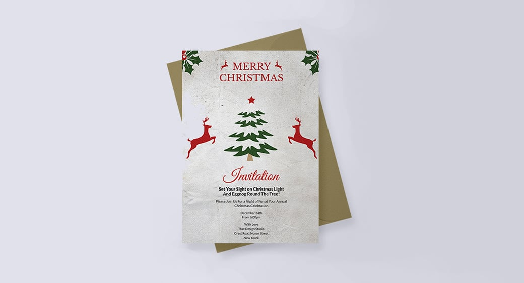 Free Elegant Christmas Invitation image