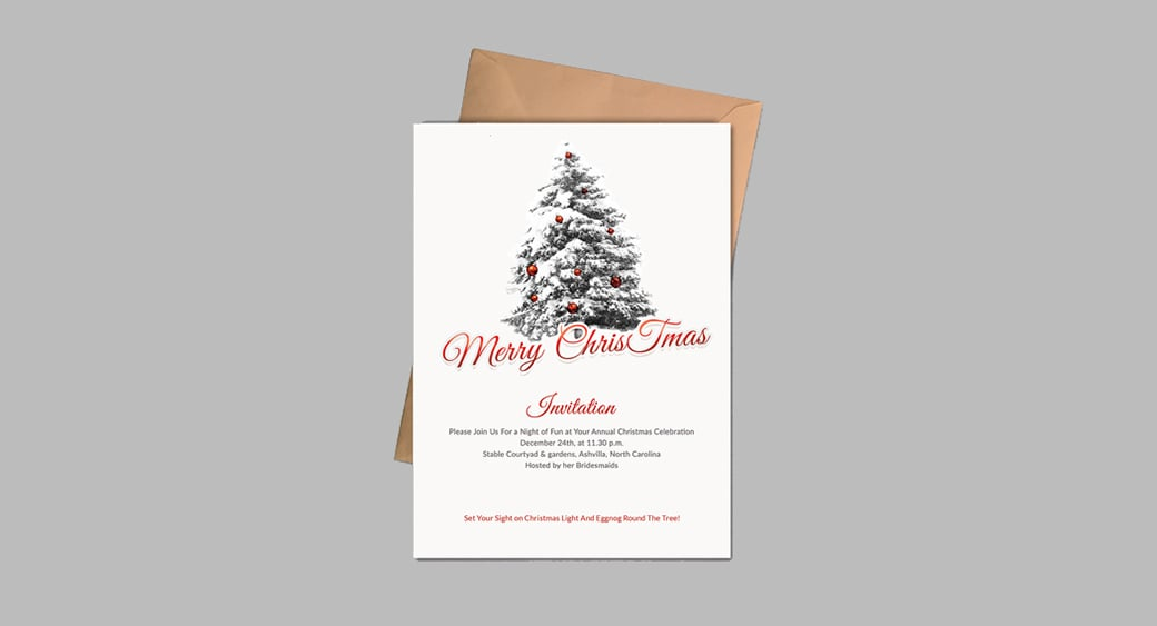Free Simple free holiday invitation templates