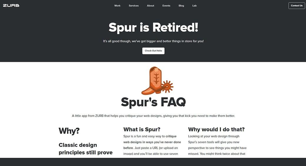 Spur free website testing tool