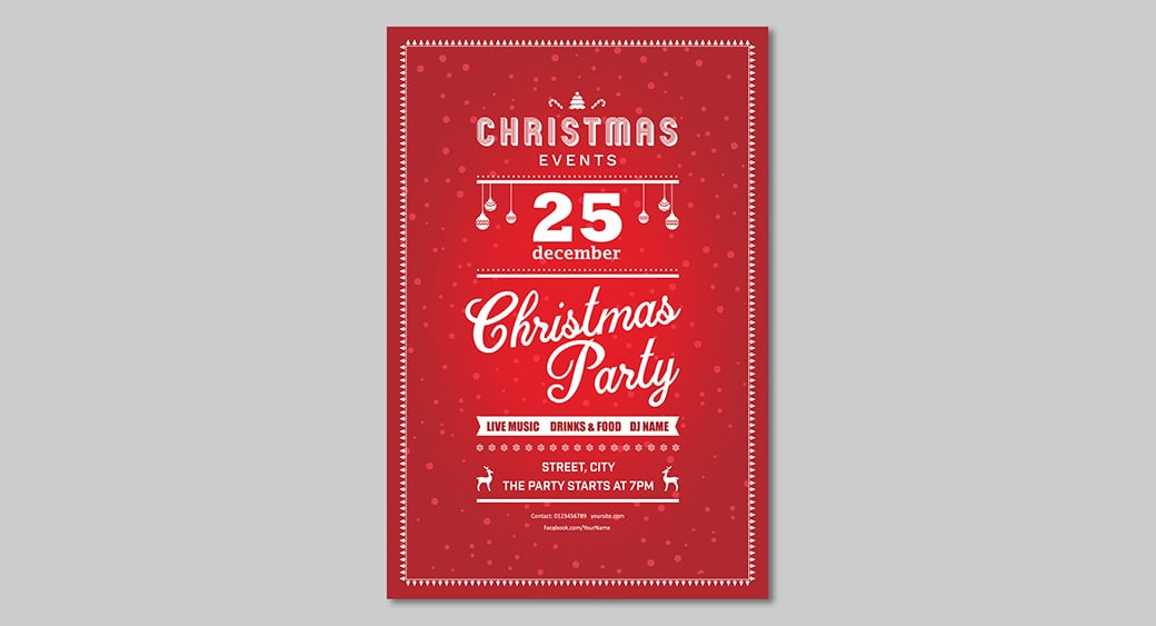 Christmas Invitation Flyers by MotoCMS