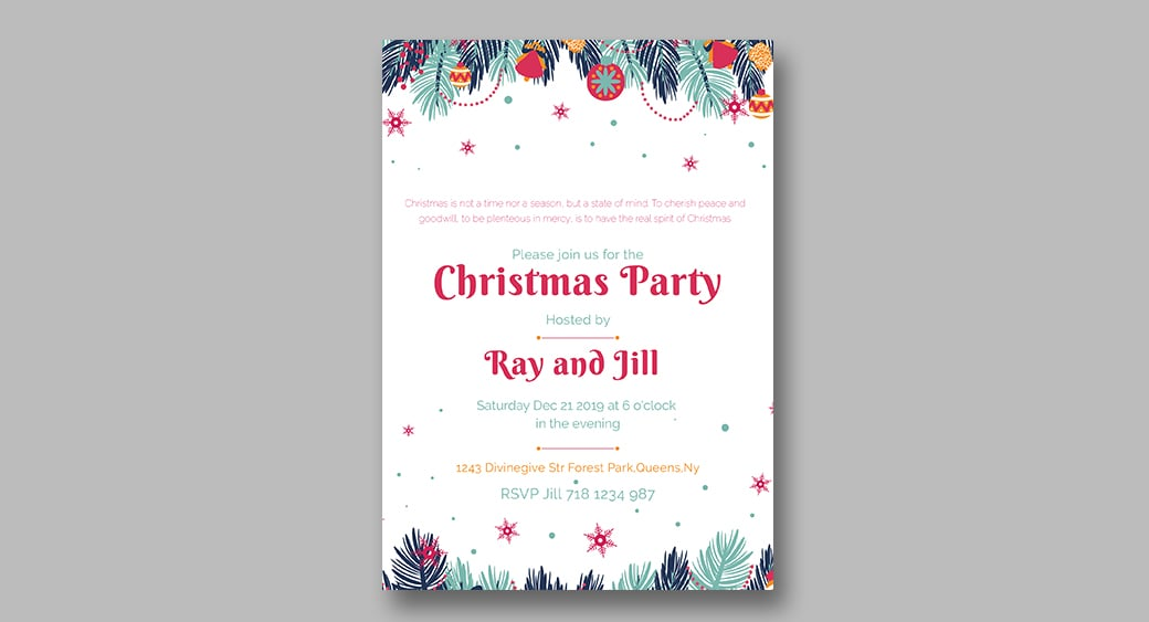 custom christmas invitation image