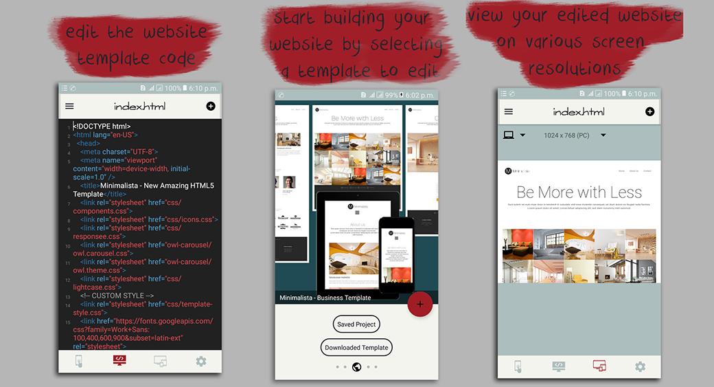 ovo web website builder layouts