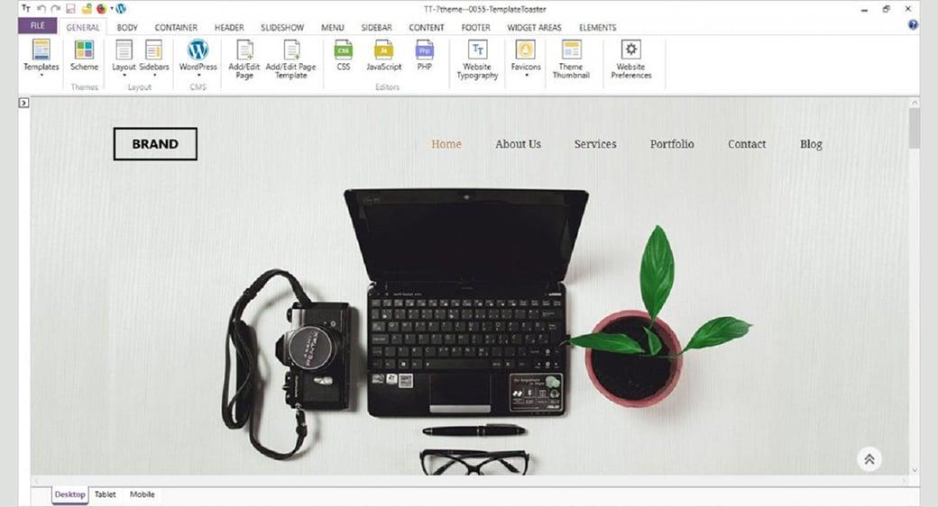 template toaster website builder image